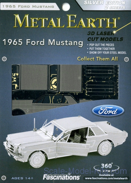"Metal 3D puzzle ""Ford Mustang, 1965"""