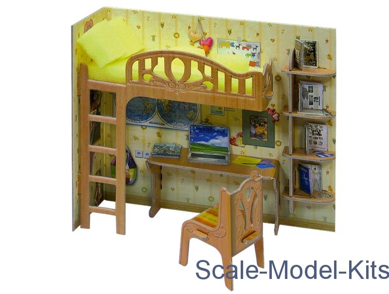 Umbum furniture corner of schoolboy plastic scale for Scale model furniture